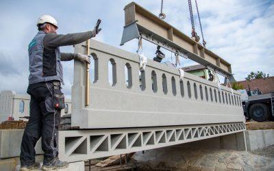 Denkmalgeschützte Brücke aus Beton