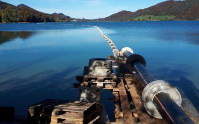 Umweltfreundlich und innovativ: Abwasserleitung am Fuschlsee