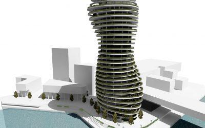 Concrete Student Trophy 2020: eleganter Wohnturm mit Grün und Beton als Sieger