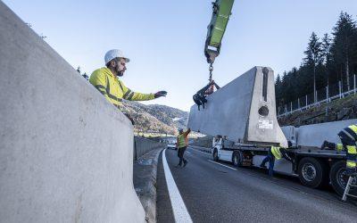 Straßenverkehr: Leitwände aus Betonfertigteilen sorgen für mehr Sicherheit